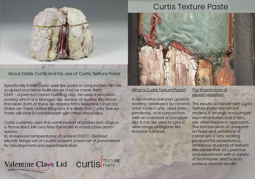 Curtis texture paste ammended