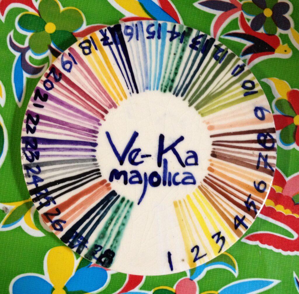 Majolica kleurenvoorbeeld